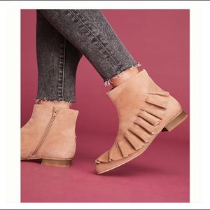 BNIB Anthropologie Ruffled Ankle Boots Size 11